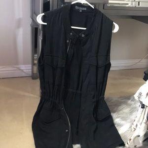 Black military inspired vest! Worn once!